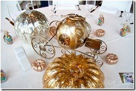 Cinderella centerpiece at Disney inspired Houston wedding, photography by Degress North Images   MouseMingle.com