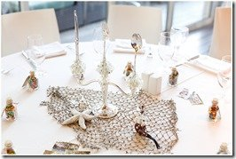 The Little Mermaid centerpiece at a Disney inspired Houston wedding, photography by Degress North Images   MouseMingle.com