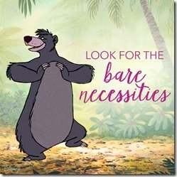 Look for the bare necessities | MouseMingle.com