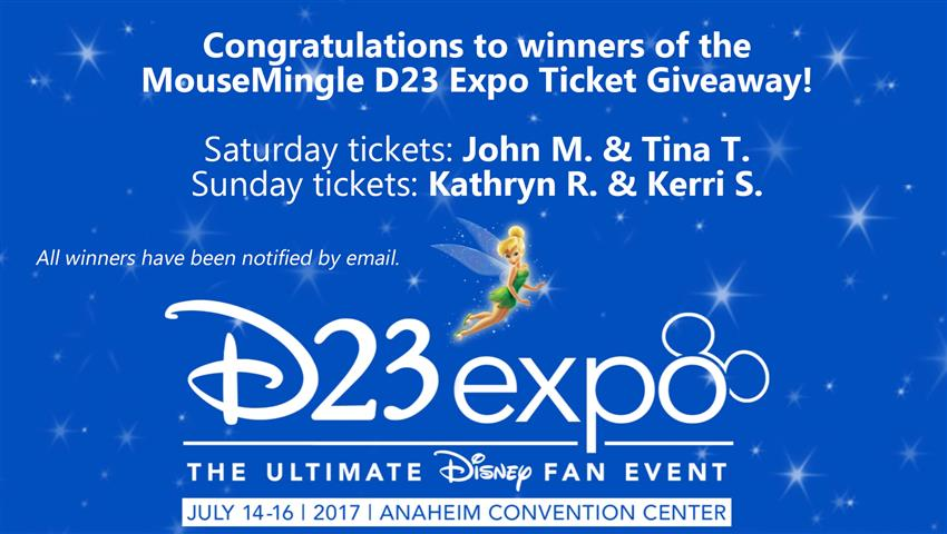 D23 Expo 2017 Ticket Winners | MouseMingle.com